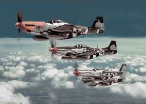 Bottisham Four P-51 361st Fighter group