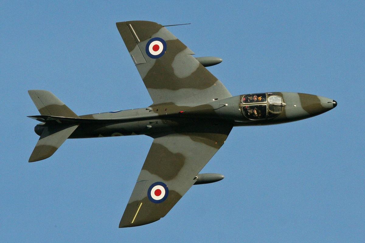Hawker Hunter T.7 WV732 (Photo Alan Wilson (CC BY-SA 2.0))