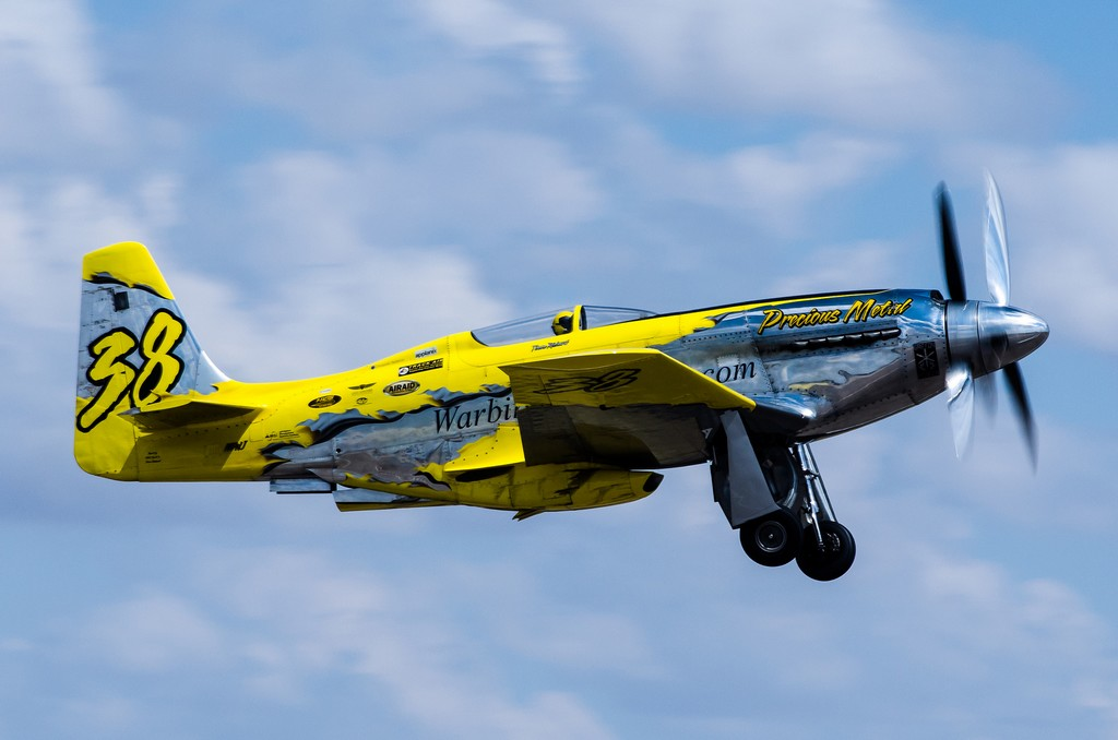 """The P-51 Mustang racer """"Precious Metal"""". (Photo Midland Airport (CC BY-ND 2.0))"""