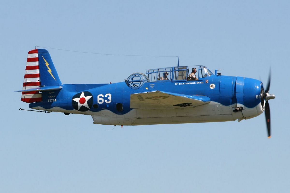 Tom Buck's TBM-3E Avenger 53768, one of nine aircraft whose presence has already been confirmed. (Photo D. Miller (CC BY 2.0))