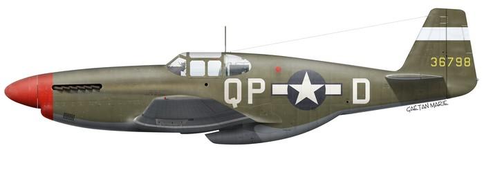 US, P-51B-7-NA, 43-6798, Spiros Pisanos, 4th FG, 334th FS