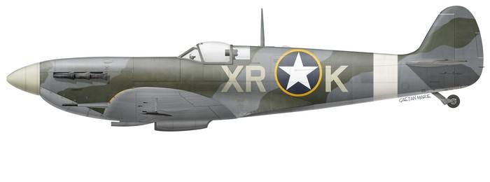 US, Spitfire Mk Vb, EN783, Steve Pisanos, 334 FS, 4 FG
