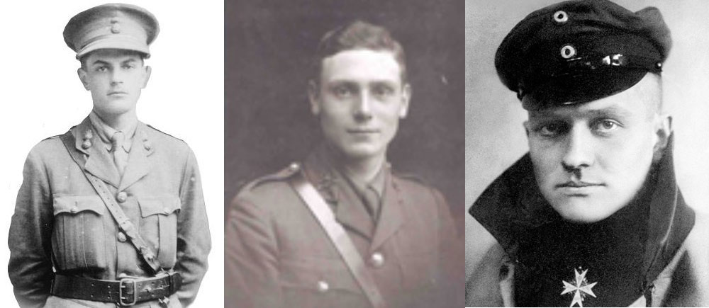 L. to r. : Tom Rees, Lionel Morris and Manfred von Richthofen.
