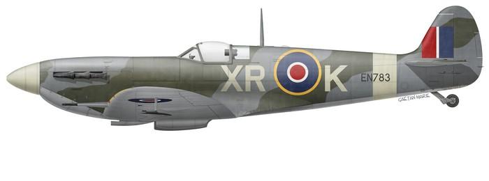 Spitfire Mk V EN783 of No 71 (Eagle) Squadron (© Gaëtan Marie)