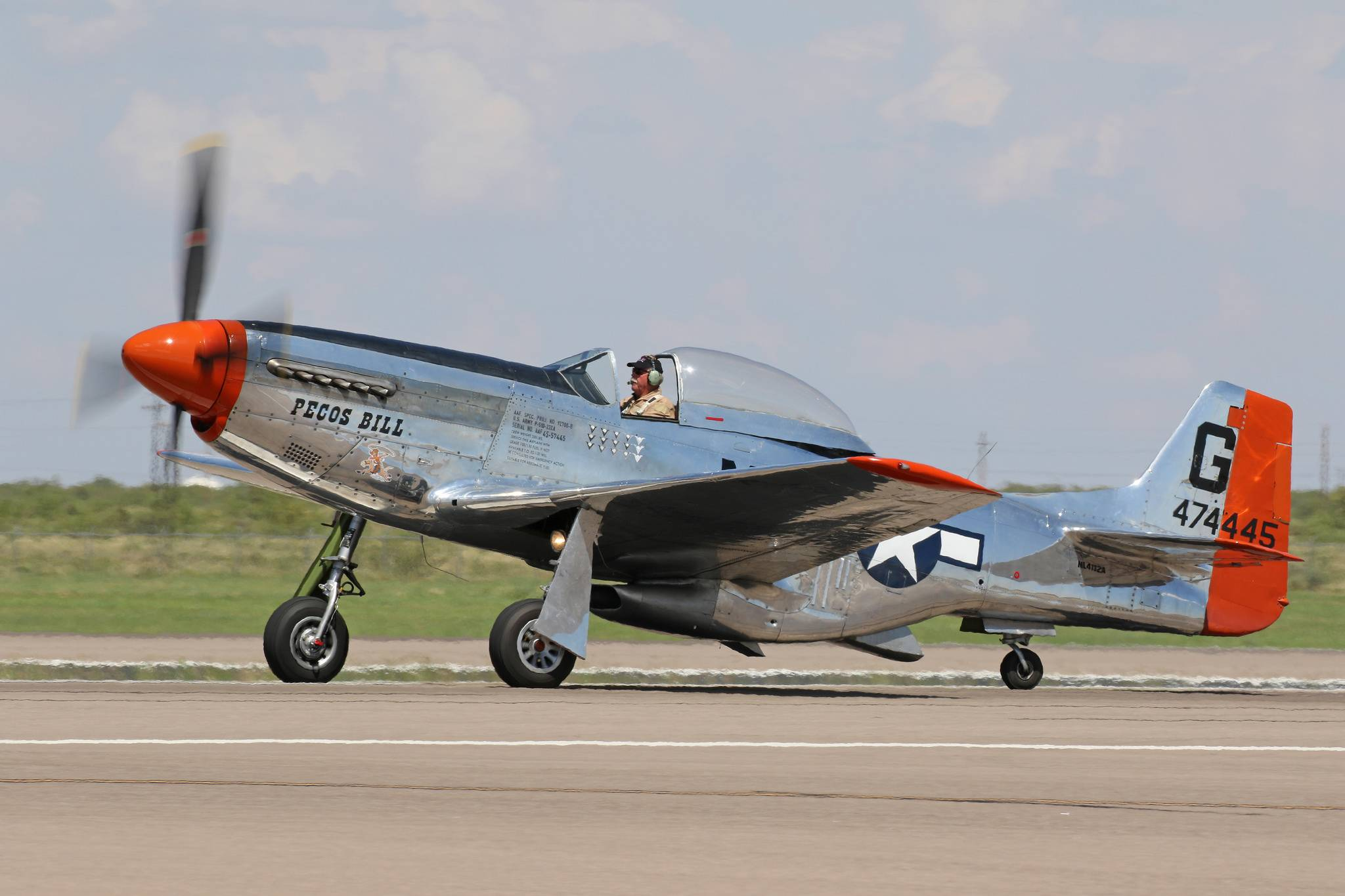 "The P-51D Mustang ""Pecos Bill"" (Photo Christopher Ebdon)"
