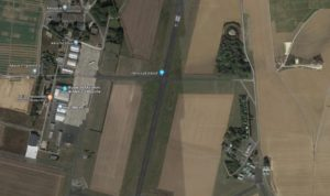 The Melun-Villaroche airfield (Google Maps screenshot)