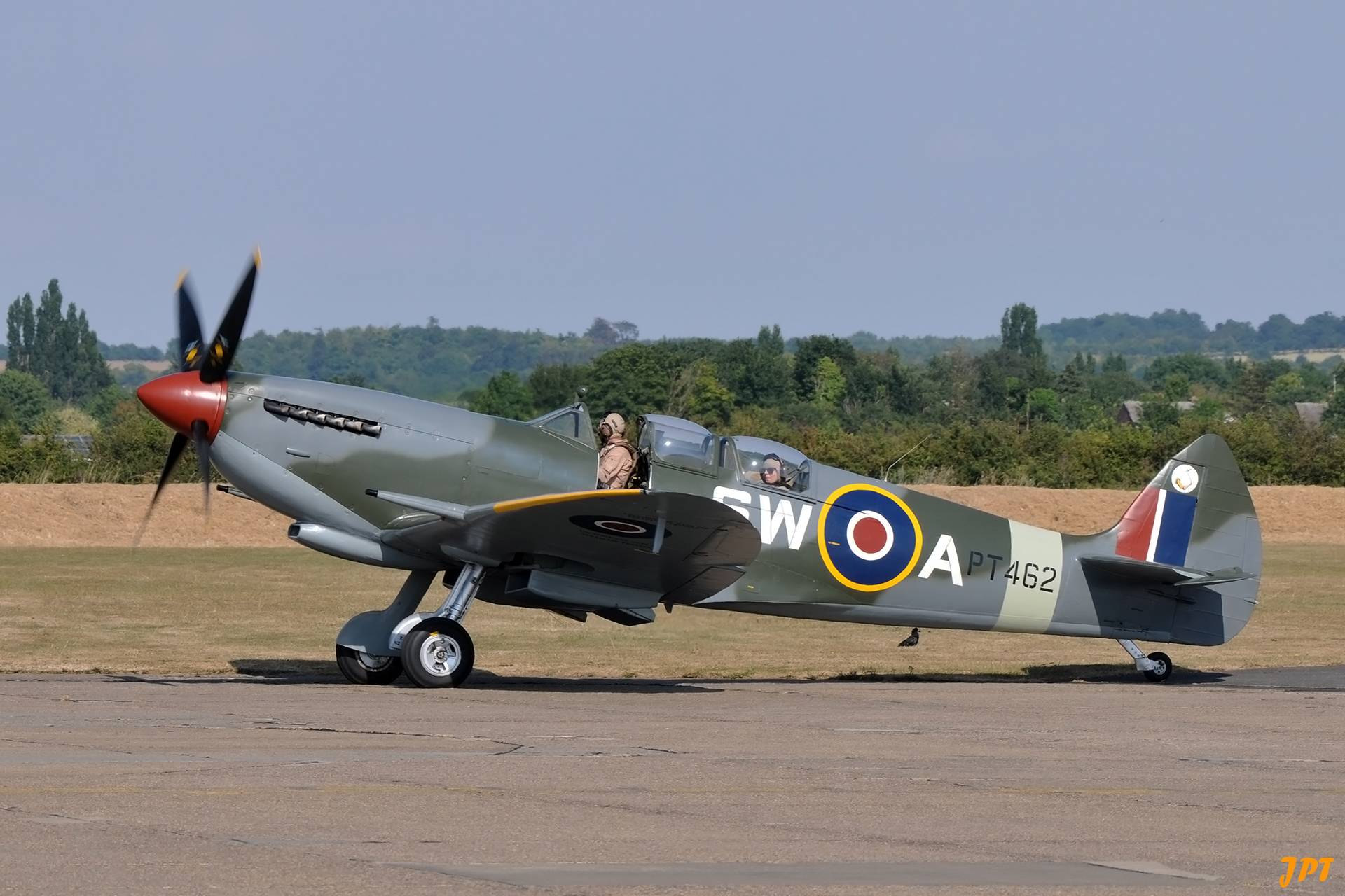 Spitfire TR Mk 9 PT462 at Flying Legends 2018 (Photo © Jean-Pierre Touzeau)